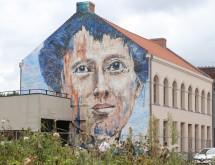 Une fresque gigantesque en hommage à Louise de Bettignies