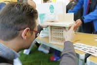 Construction d'un gîte pour les abeilles solidaires