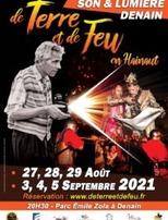 """Spectacle Son et Lumière """"De Terre et de Feu en Hainaut"""" à Denain"""