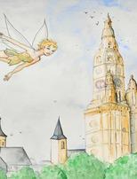 """Aquarelles """"Amandine, petite fée à St-Amand-les-Eaux"""""""